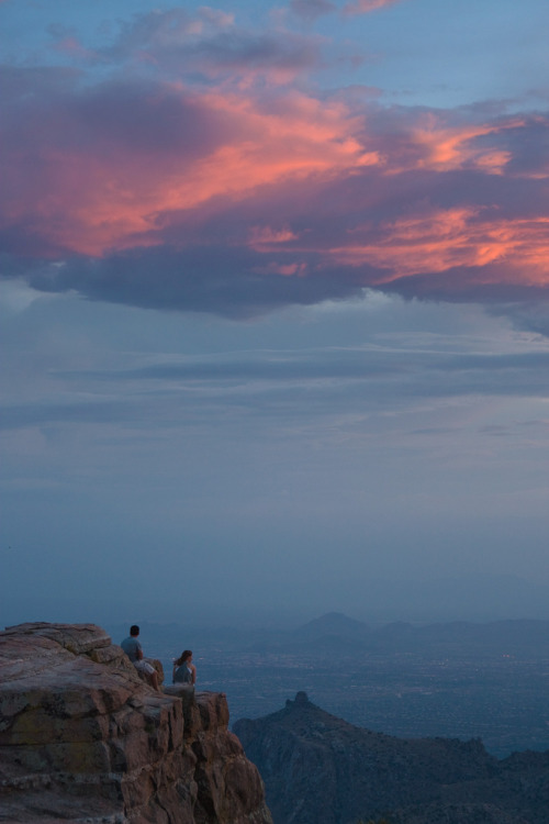 fuckyeahtucson:  littlejoe:  sky on fire, from mt lemmon at sunset  Happy Thanksgiving Day to you and yours from your buddies at FuckYeahTucson.