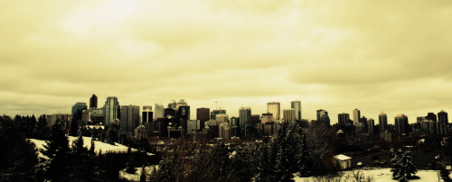 The Calgary skyline from 2008 I think.