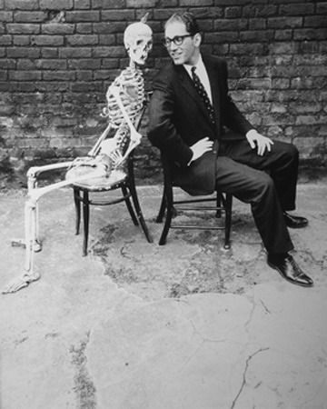 Tom Lehrer and Skeleton, London — Norman Parkinson, 1959
