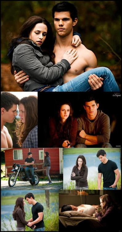 Jacob Black and Bella Swan in the Twilight Saga: Eclipse