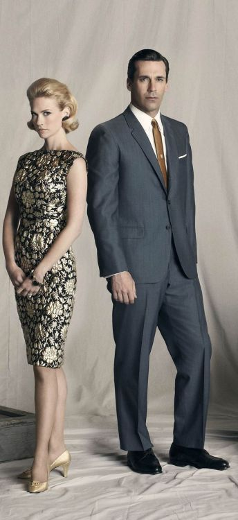 Mad Men - photo promo saison 4 - January Jones & Jon Hamm