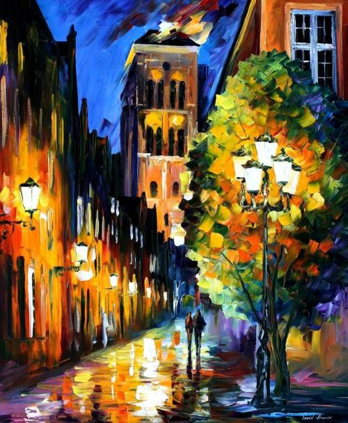 lickystickypickyme:  The Lights in The Old TownLeonid Afremov