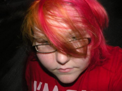 I used Red passion, Hot hot pink, And electric banana From manic Panic, And, Beyond The Zone Color Jamz Crimson Storm.