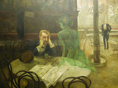 Absinthe Drinker - Viktor Oliva The Green Fairy (Absinthe)
