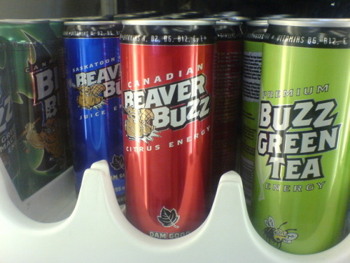 Forget Red Bull or Monster, Beaver Buzz is what Canadians turn to to get an energy boost. Flavours include berry, black current, citrus, green tea and iced tea.