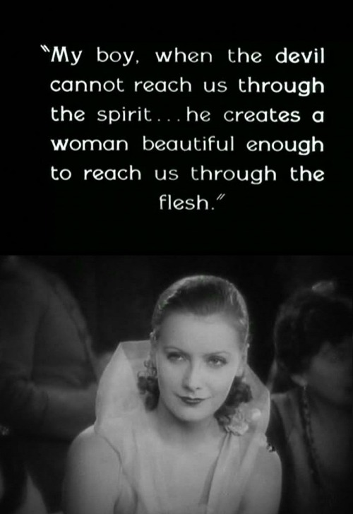 Greta Garbo in Flesh and the Devil (1927, dir.  Clarence Brown)