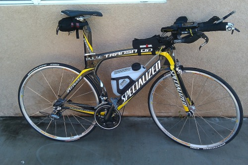 Yesterday and Today was my maiden voyage for my new tri bike and let me tell you it is a faster machine than my road bike (Bianchi).  It is really amazing how you can feel the difference.  The bike seems to respond to when I push it and I saw on my computer the increased speed I was getting.  Pretty darn cool. The down side is a new saddle that I must get used to and I am hear to say I am not used to it now.  My next race is the first weekend in August so I will update you on how it affects my average speed. Thank you to the boys at Pulse sports for the great deal and fitting the bike.  They are the best so check them out at www. pulse-es.com.