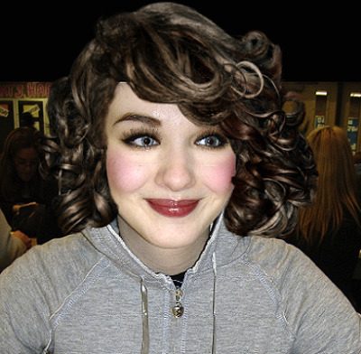 It's funny to put red-carpet hair and make-up on photos of your 16 year-old self in a sweatshirt.
