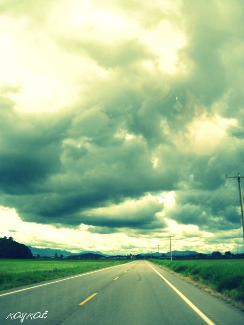 A picture I took on chuckanut drive.  It makes me think that the sky and the earth are meeting.