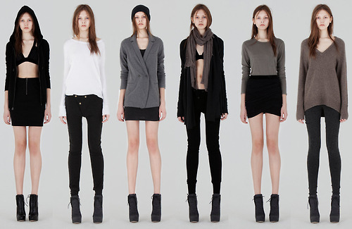 like 'em skinny legs. and how simply everything is. LOVE all the clothes (via vogueweekend, letsfuckinmybed)