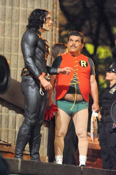 Russell Brand As Batman and Luis Guzman as Robin on the set of Arthur | Cinematical
