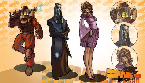 Space 1999 webcomic characters by ~davidhueso (deviantart.com)