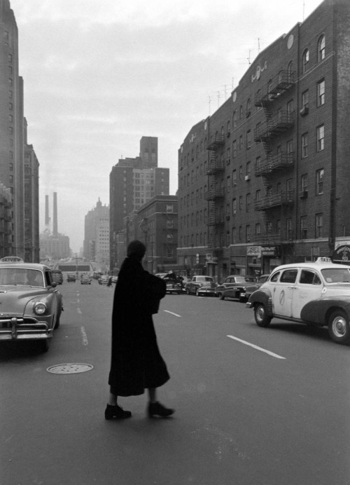 "The elusive, post-retirement Greta Garbo walking in New  York (1955, photo by  Lisa Larsen for LIFE) ""I have no plans, not for the movies, not for the stage, not  for   anything. I'm sort of drifting…Sometimes I put on my coat at 10 in  the   morning and go out and  follow people. I just go where they're going. I   mill around."" -Garbo, on her life after leaving Hollywood (LIFE magazine, Jan. 24th, 1955)"