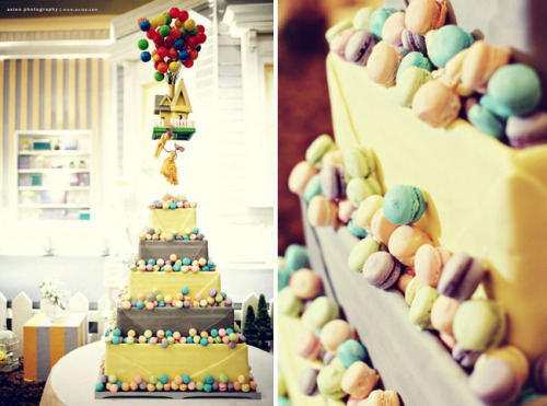 "pixarmovies:  An ""UP"" Inspired Wedding   Super cute."