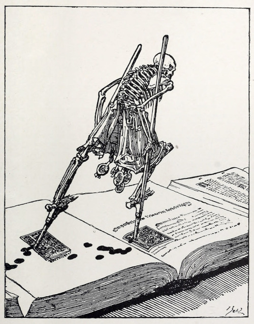 50watts:  crystilogic:  from The Dance of Death by Joseph Sattler, reprinted in Modern Illustration by Joseph Pennell (1895)  (via oldbookillustrations)
