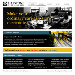 Design Study: Capstone Technologies Website