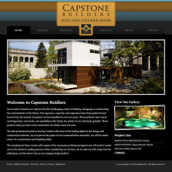 Design Study: Capstone Builders Website