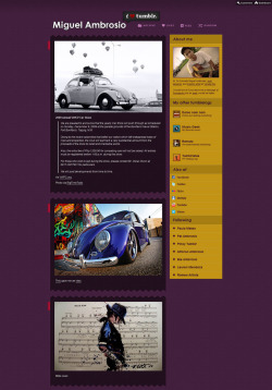 My blog's previous design