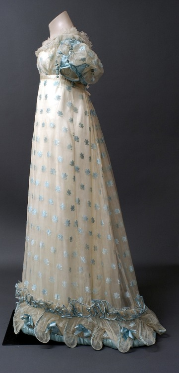 dress ca. 1821 via The Bowes Museum