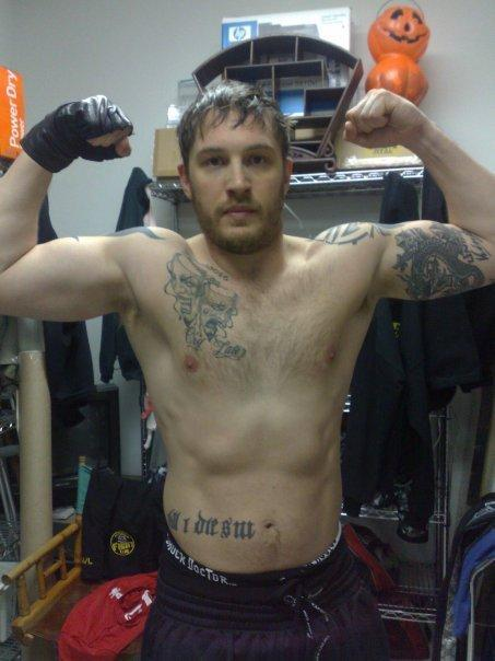 jockohomo:  The actor Tom Hardy of Bronson, Band of Brothers, Warrior and Inception fame and woops RocknRolla.   He was my favorite! :)