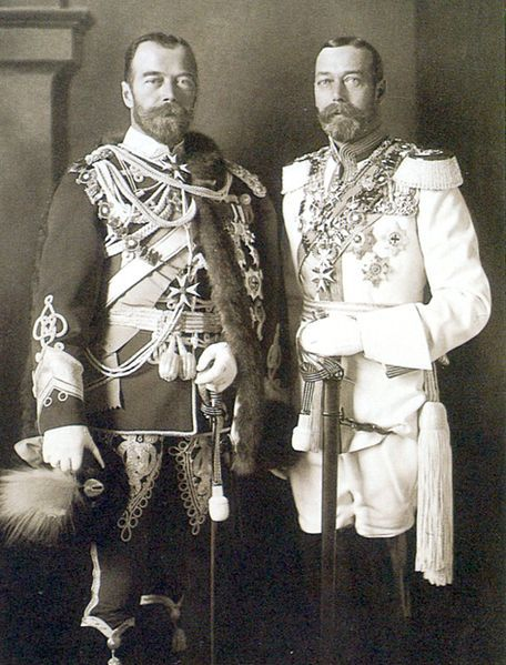akraken pinkgigi thefirstwaltz Tsar Nicholas II and his cousin, King George V of the United Kingdom.