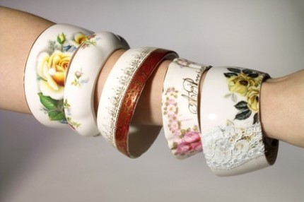 Charming vintage bonechina teacup braceletS by StayGoldMaryRose If you could see me right now you'd see how giddy with joy these little darlings make me. I'm always searching for something new/unique and something with a little vintage flair, and these bracelets couldn't be more perfect. I need one of these bracelets, now the only problem is…which one do I chose?