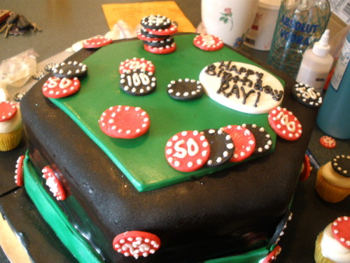 Poker Table Cake!  Submitted by: somethingsweett