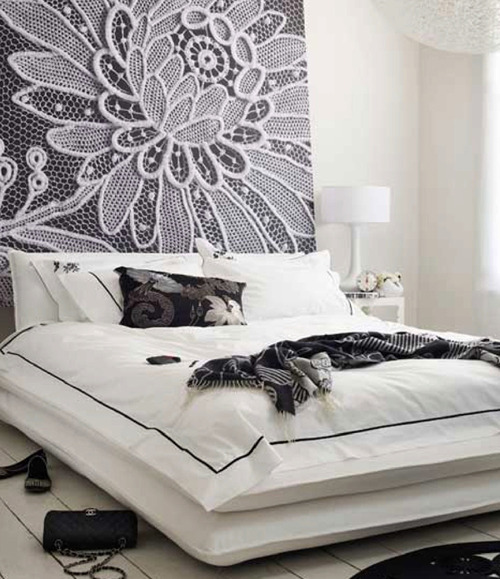 spaces-in-between:  Big lace mural. source(via prettyspace)