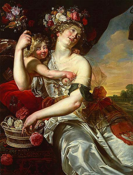 Abraham Janssesn van Nuyseen An Allegory of Spring 17th century