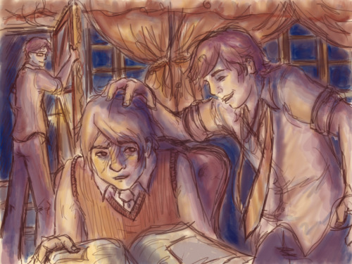 Another late night produces another Harry Potter drawing. Hey Marauders, you are my favorites.