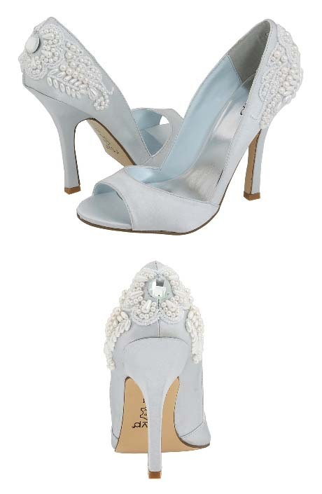 Roma shoes in light blue by rsvp