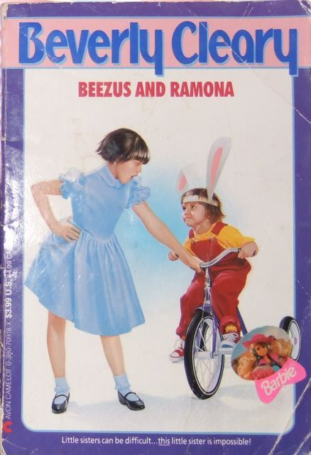 one of my many well-worn Ramona books.  I think I posted this already, but I'm getting so excited for the movie that I feel like posting again.  I don't know what the Barbie sticker is doing, hanging out there on the cover…  These covers were the ones I grew up with in the 90s.  I love this style of illustration and I'm so glad that I still have the whole series with these beautiful covers. I think the movie will be great and I'm so looking forward to it.  I love Selena and many others in the cast.  Ramona IS my childhood, can't wait to see it on the big screen!