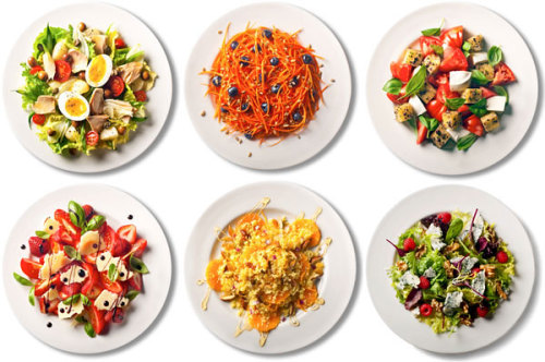101 Simple Salads for the Season - New York Times This article has lots of good ideas. One of my favorites: Mix a can of tuna with tomatoes, parsley and olive oil. Add chopped apples, halved seedless grapes, chopped red  onion, olive oil, a bit of cumin and black pepper. Doesn't that sound yummy?