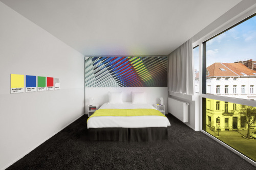 khristinevaldez:  The PANTONE HOTEL combines the strong emotions evoked by color with exceptional, vivid design and unyielding comfort. Guests enjoy state-of-the-art accommodations, distinctively chosen at reception to compliment their mood.