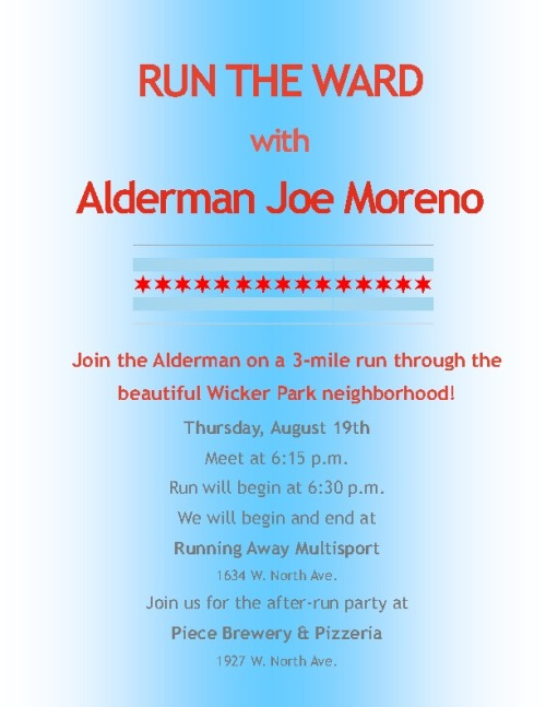 RUN THE WARD with Me on 8.19.2010 - I'm very excited about this event and I hope you runners out there will join me.