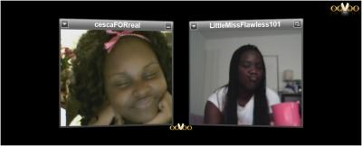 On ooVoo with my homie @CescaFORreal ! lol this was ysterday BtW lol