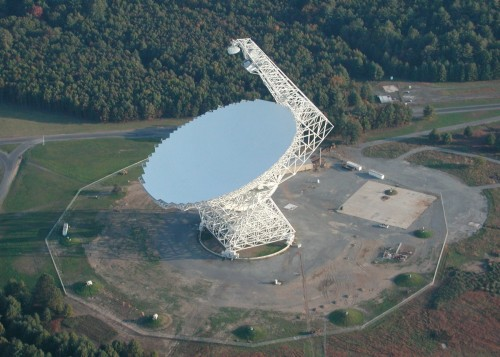 "Radio Astronomers Develop New Technique for Studying Dark Energy  Pioneering observations with the National Science Foundation's giant Robert C. Byrd Green Bank Telescope (GBT) have given astronomers a new tool for mapping large cosmic structures. The new tool promises to provide valuable clues about the nature of the mysterious dark energy.  Sound waves in the matter-energy soup of the extremely early Universe are thought to have left detectable imprints on the large-scale distribution of galaxies in the Universe. The researchers developed a way to measure such imprints by observing the radio emission of hydrogen gas. Their technique, called intensity mapping, when applied to greater areas of the Universe, could reveal how such large-scale structure has changed over the last few billion years, giving insight into which theory of dark energy is the most accurate.  To get their results, the researchers used the GBT to study a region of sky that previously had been surveyed in detail in visible light by the Keck II telescope in Hawaii. This optical survey used spectroscopy to map the locations of thousands of galaxies in three dimensions. With the GBT, the team used their intensity-mapping technique to accumulate the radio waves emitted by the hydrogen gas in large volumes of space including many galaxies.  The astronomers also developed new techniques that removed both man-made radio interference and radio emission caused by more-nearby astronomical sources, leaving only the extremely faint radio waves coming from the very distant hydrogen gas. The result was a map of part of the ""cosmic web"" that correlated neatly with the structure shown by the earlier optical study.  This is a demonstration of an important technique that has great promise for future studies of the evolution of large-scale structure in the Universe.  Source: NRAO"