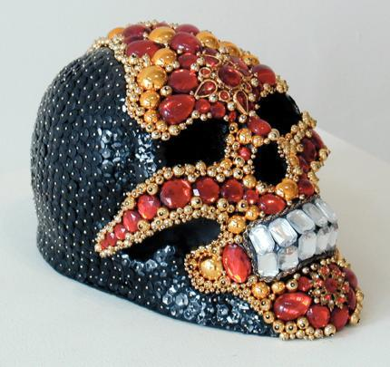 Amy Sarkisian Gold and Ruby Skull 2003