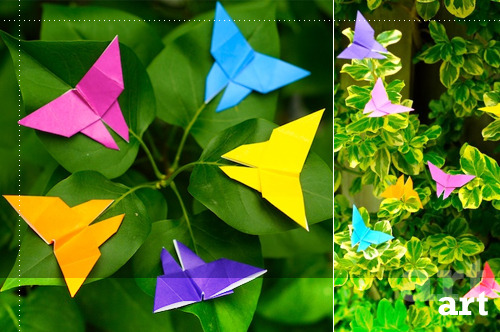 If there's one thing I love it's butterflies. These origami butterflies by omiyage are exceptionally beautiful! So nice to see them in their natural habitat, too!