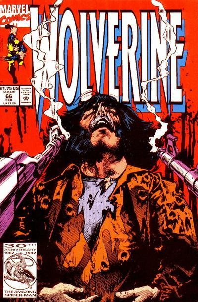 "0944. Wolverine v2 #66, February 1993, written by Larry Hama, penciled by Mark Texeira Mark Texeira sure can draw the surreal, but Larry Hama stumbles when he writes it. This is a hard issue to follow, and not in the thought-provoking Doom Patrol or Sandman way, more like in the ""most every other issue of Wolverine way."" Still, this stretch of issues is more enjoyable than the later, ridiculous Silvestri issues. My Score: 7.9"