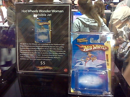 Wonder Woman's Invisible Jet; Hilarious Hot Wheels Comic-Con stunt from our friend Lindsey. (It's an empty package.)