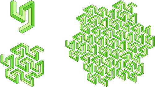 Impossible fractal (by Ethan Hein)