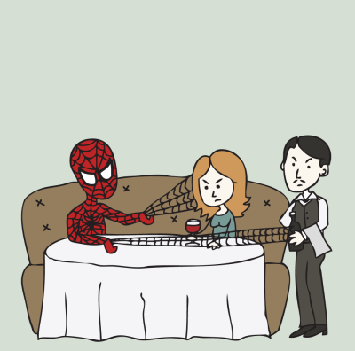 Unfortunately, young Peter Parker's appalling lack of table manners tended to carry over into his Spider-Man persona.