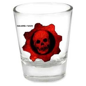 Gears of War Shot GlassAvailable for purchase on Amazon for $6.98, or a cheaper version on GoHastings for $3.99. [Amazon][GoHastings]