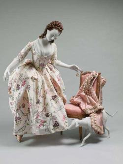 mantuamaker:  Robe à l'anglaise (that has been polonaised - see here for explanation)French | c. 1780Silk | Met Gorgeous.