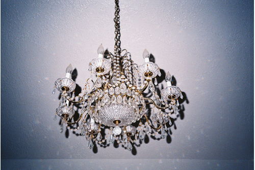 i want a chandelier in every room of my house.