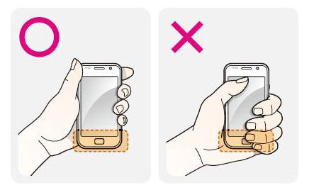 Don't hold the Samsung Galaxy S wrong.  page unknown  via TheUrbanGeek