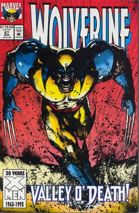 0947. Wolverine v2 #67, March 1993, written by Larry Hama, penciled by Mark Texeira My Score: 7.7