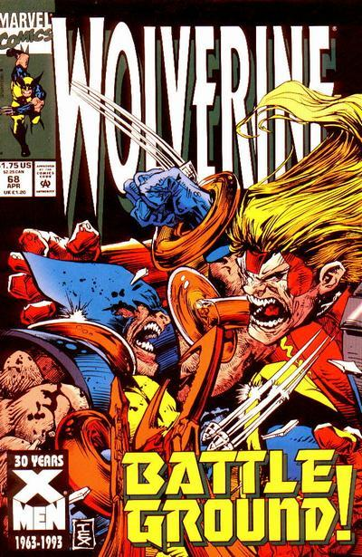 0948. Wolverine v2 #68, April 1993, written by Larry Hama, penciled by Mark Texeira My Score: 7.2