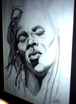 "chockfullofjunk:  imageoverdose:  ""Untitled"" (Male Class Model), Charcoal onNewsprint Nattu Daoud Coleman :: My Art :: College Days   (via chockfullofjunk)"